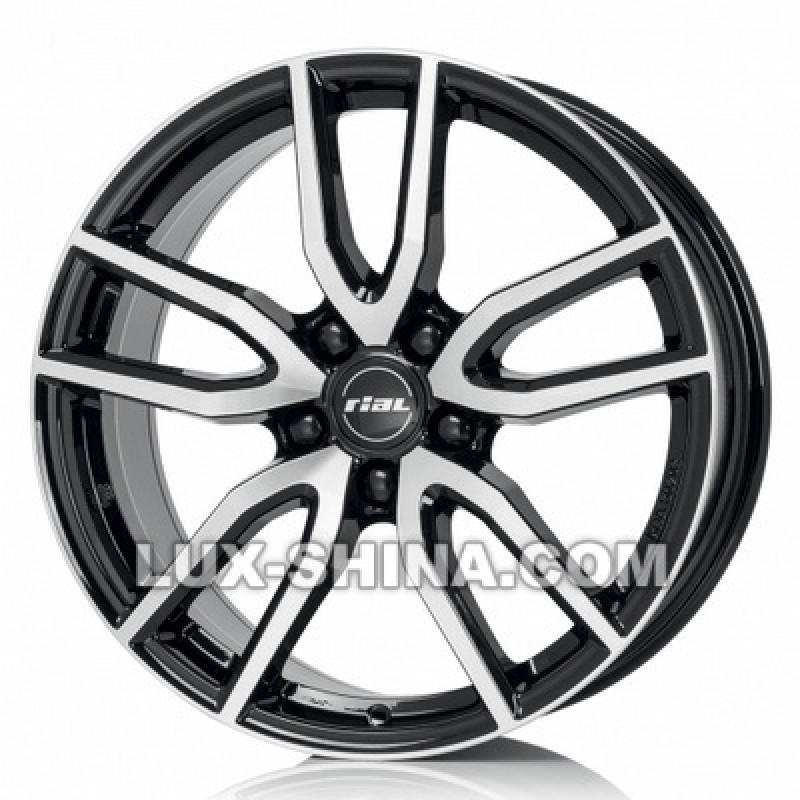 Rial Torino 6,5x16 5x112 ET40 DIA57,1 (diamond black front polished) в Севастополе (Крым)